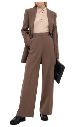 Женские кожаные лоферы TOD'S черного цвета, арт. XXW80C0DF30MRK | Фото 2