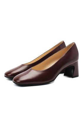 Женская кожаные туфли TOD'S бордового цвета, арт. XXW84C0DE60BSS | Фото 1