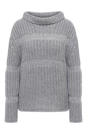Женский кашемировый свитер GIORGIO ARMANI серого цвета, арт. 6HAM15/AM45Z   Фото 1