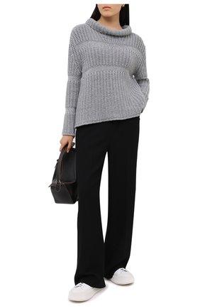 Женский кашемировый свитер GIORGIO ARMANI серого цвета, арт. 6HAM15/AM45Z   Фото 2