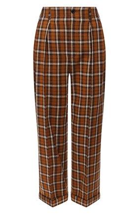 Женские шерстяные брюки SAINT LAURENT разноцветного цвета, арт. 627259/Y3B48 | Фото 1