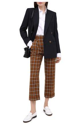 Женские шерстяные брюки SAINT LAURENT разноцветного цвета, арт. 627259/Y3B48 | Фото 2
