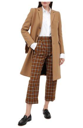 Женское кашемировое пальто SAINT LAURENT бежевого цвета, арт. 517798/Y143V   Фото 2