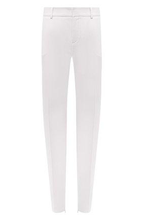 Женские шерстяные брюки SAINT LAURENT белого цвета, арт. 516111/Y513W | Фото 1