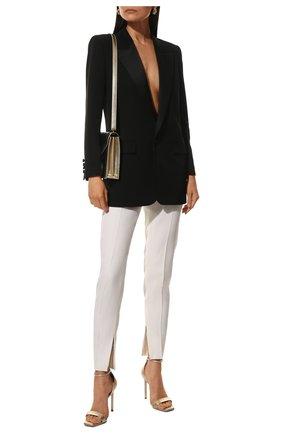 Женские шерстяные брюки SAINT LAURENT белого цвета, арт. 516111/Y513W | Фото 2