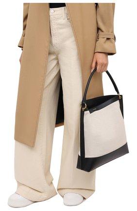 Женский сумка-тоут tag SAINT LAURENT черно-белого цвета, арт. 634786/H9P1W | Фото 2