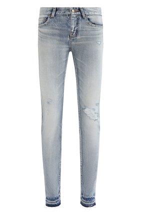 Женские джинсы SAINT LAURENT голубого цвета, арт. 631263/Y372Z | Фото 1