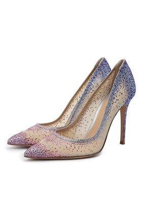 Женские текстильные туфли rania GIANVITO ROSSI разноцветного цвета, арт. G20130.15RIC.B0RSNUS | Фото 1