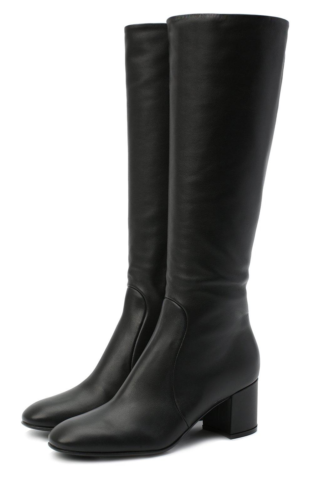 Женские кожаные сапоги GIANVITO ROSSI черного цвета, арт. G80473.60RIC.VGINER0   Фото 1