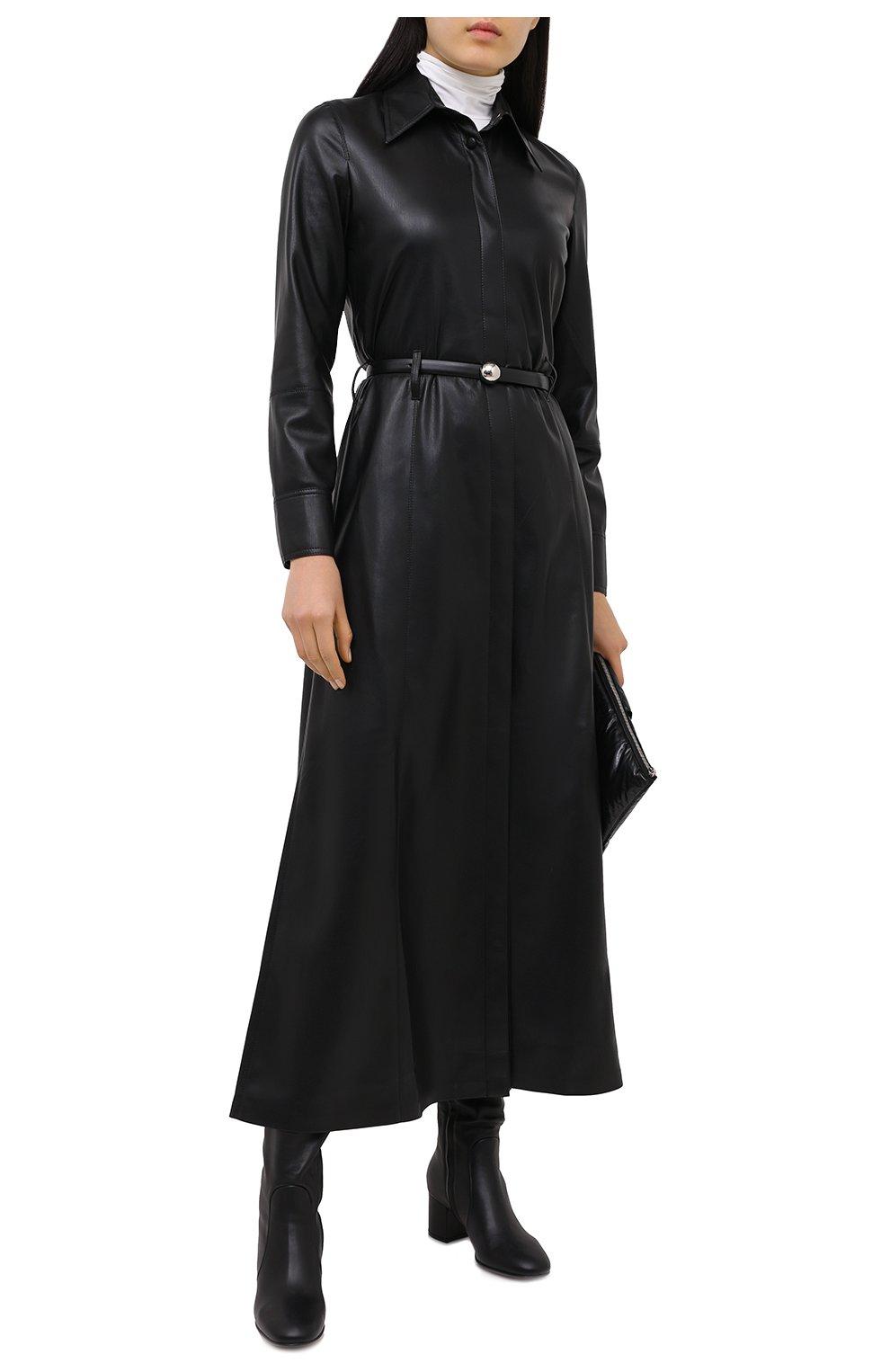 Женские кожаные сапоги GIANVITO ROSSI черного цвета, арт. G80473.60RIC.VGINER0   Фото 2