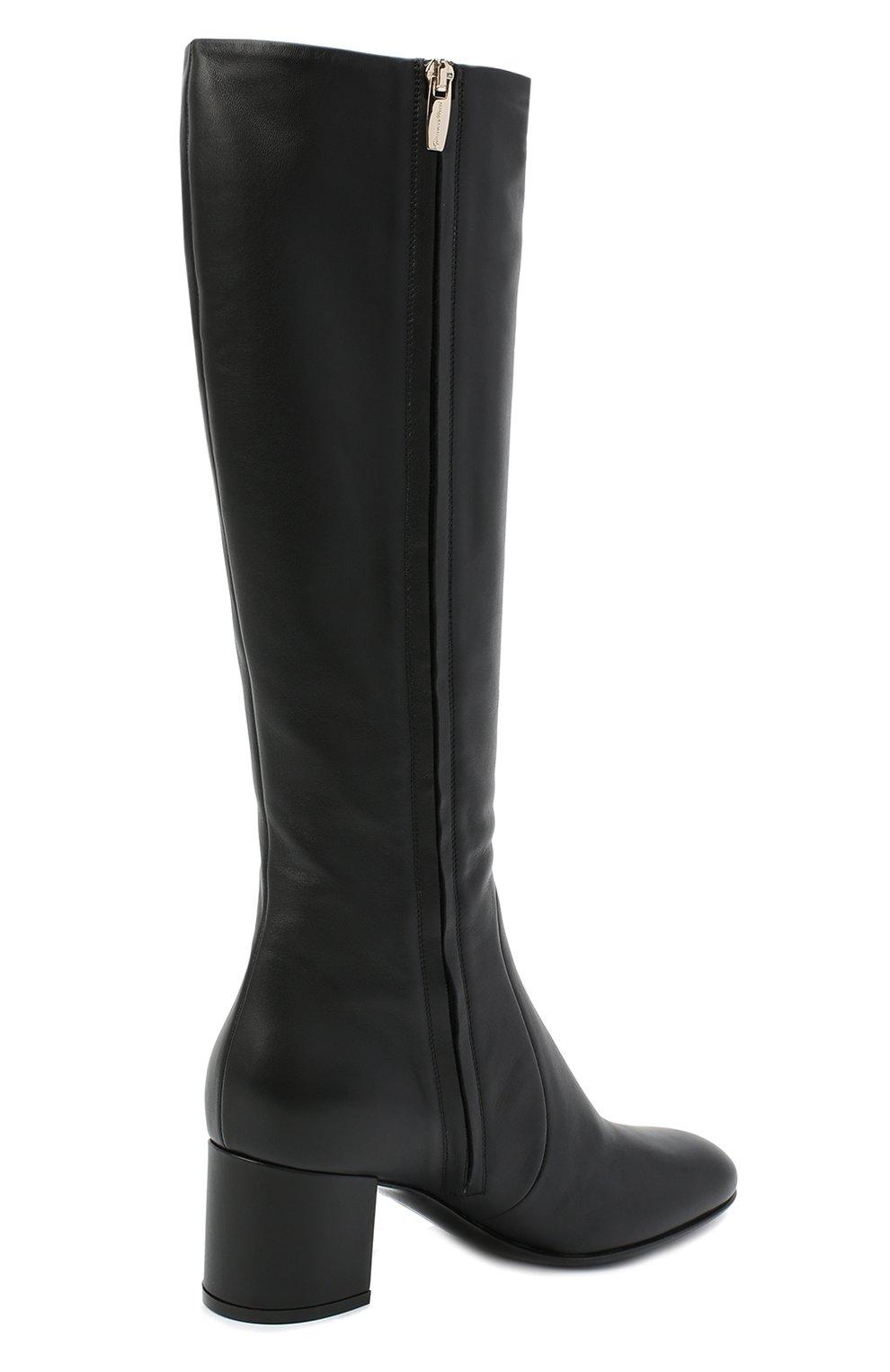 Женские кожаные сапоги GIANVITO ROSSI черного цвета, арт. G80473.60RIC.VGINER0   Фото 4