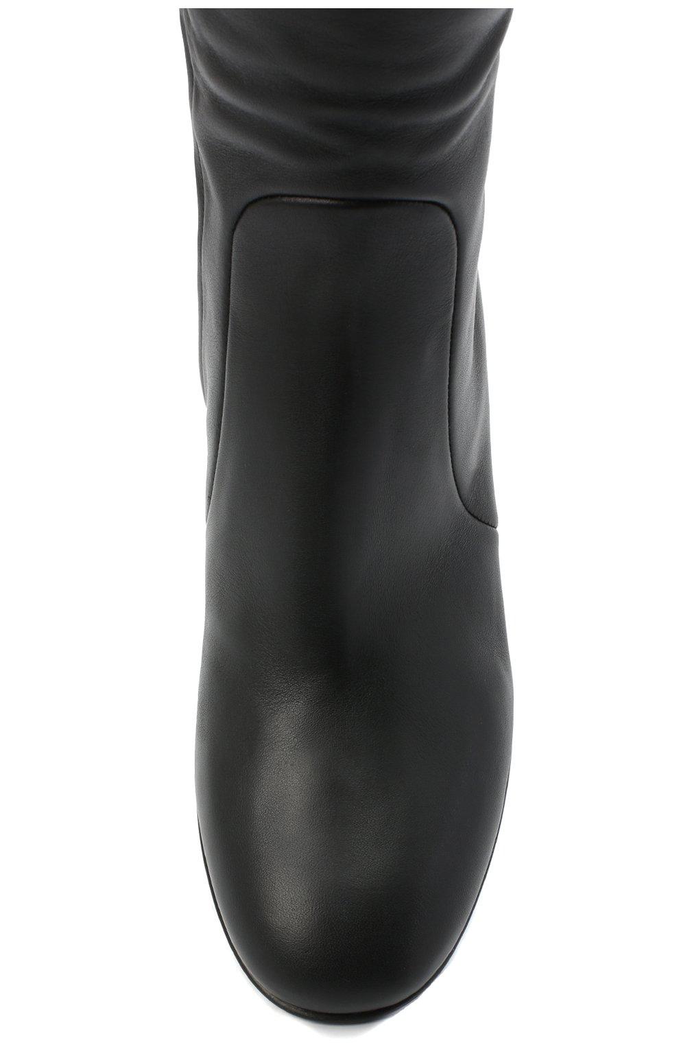 Женские кожаные сапоги GIANVITO ROSSI черного цвета, арт. G80473.60RIC.VGINER0   Фото 5