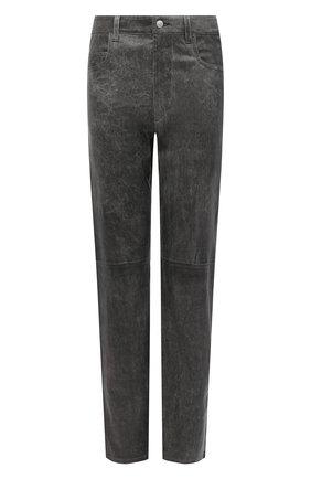 Женские кожаные брюки ISABEL MARANT ETOILE темно-серого цвета, арт. PA1715-20A016E/TEA | Фото 1
