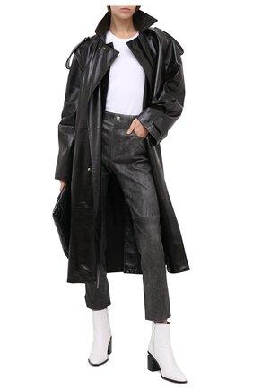 Женские кожаные брюки ISABEL MARANT ETOILE темно-серого цвета, арт. PA1715-20A016E/TEA | Фото 2