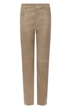 Женские кожаные брюки ISABEL MARANT ETOILE бежевого цвета, арт. PA1715-20A016E/TEA | Фото 1