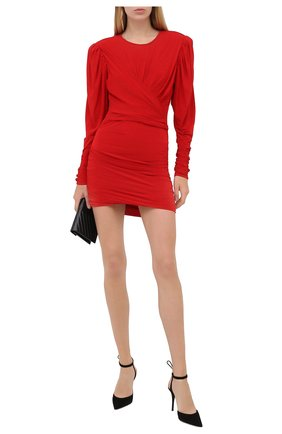 Женское платье ISABEL MARANT красного цвета, арт. R01774-20A033I/GHITA   Фото 2