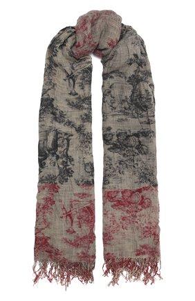 Женский шерстяной шарф UMA WANG разноцветного цвета, арт. A0 M UA0245 | Фото 1 (Материал: Шерсть; Принт: С принтом)
