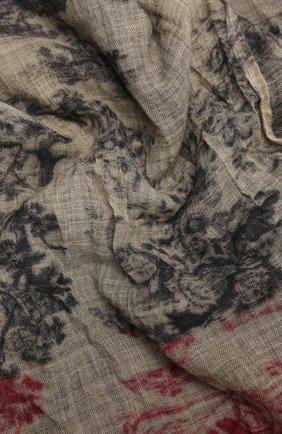 Женский шерстяной шарф UMA WANG разноцветного цвета, арт. A0 M UA0245 | Фото 2 (Материал: Шерсть; Принт: С принтом)