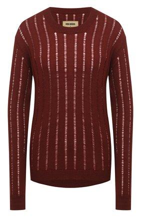 Женский кашемировый пуловер UMA WANG красного цвета, арт. A0 M UK7184 | Фото 1 (Материал внешний: Шерсть, Кашемир; Рукава: Длинные; Длина (для топов): Стандартные; Женское Кросс-КТ: Пуловер-одежда; Стили: Гранж)
