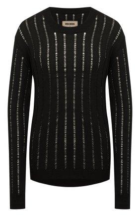 Женский кашемировый пуловер UMA WANG черного цвета, арт. A0 M UK7184 | Фото 1 (Длина (для топов): Стандартные; Рукава: Длинные; Материал внешний: Шерсть, Кашемир; Женское Кросс-КТ: Пуловер-одежда; Стили: Гранж)