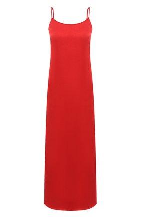 Женское платье UMA WANG красного цвета, арт. A0 M UP5094 | Фото 1 (Длина Ж (юбки, платья, шорты): Миди; Женское Кросс-КТ: Платье-одежда; Стили: Минимализм; Случай: Повседневный; Материал внешний: Купро)