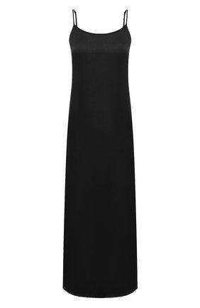 Женское платье UMA WANG черного цвета, арт. A0 M UP5094 | Фото 1 (Длина Ж (юбки, платья, шорты): Миди; Женское Кросс-КТ: Платье-одежда; Стили: Минимализм; Случай: Повседневный; Материал внешний: Купро)