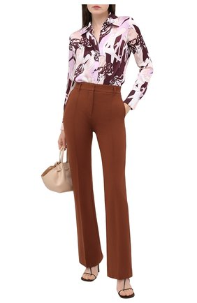 Женские брюки DOROTHEE SCHUMACHER коричневого цвета, арт. 948013/EM0TI0NAL ESSENCE | Фото 2