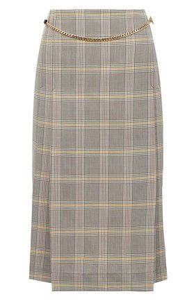 Женская шерстяная юбка VICTORIA BECKHAM разноцветного цвета, арт. 1320WSK001580C | Фото 1