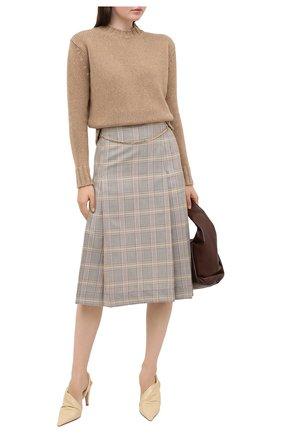 Женская шерстяная юбка VICTORIA BECKHAM разноцветного цвета, арт. 1320WSK001580C | Фото 2