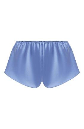 Женские шелковые шорты LUNA DI SETA голубого цвета, арт. VLST08006 | Фото 1