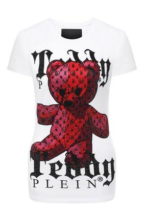 Женская хлопковая футболка teedy bear PHILIPP PLEIN белого цвета, арт. F20C WTK2049 PJY002N | Фото 1