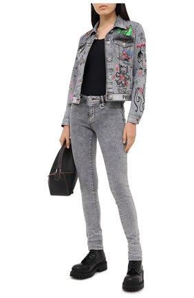 Женские джинсы PHILIPP PLEIN серого цвета, арт. F20C WDT1423 PDE004N | Фото 2