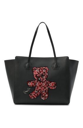 Женская сумка-шопер teddy bear PHILIPP PLEIN черного цвета, арт. F20A WBA1289 PLE096N | Фото 1