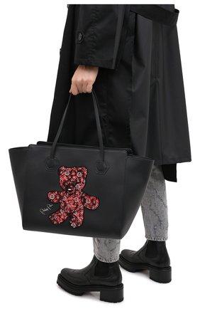 Женская сумка-шопер teddy bear PHILIPP PLEIN черного цвета, арт. F20A WBA1289 PLE096N | Фото 2