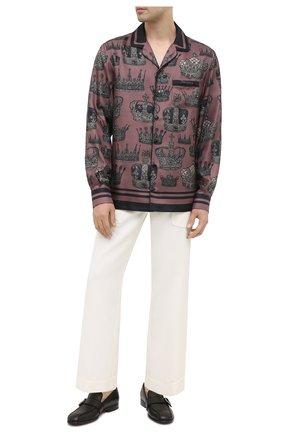 Мужские кожаные лоферы DOLCE & GABBANA черного цвета, арт. A50411/AW593 | Фото 2