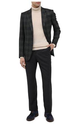 Мужской брюки из шерсти и кашемира ZILLI темно-серого цвета, арт. M0U-D0153-LACH1/R001 | Фото 2