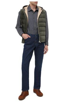 Мужские джинсы ZILLI синего цвета, арт. MCU-00011-LKBL1/R001 | Фото 2