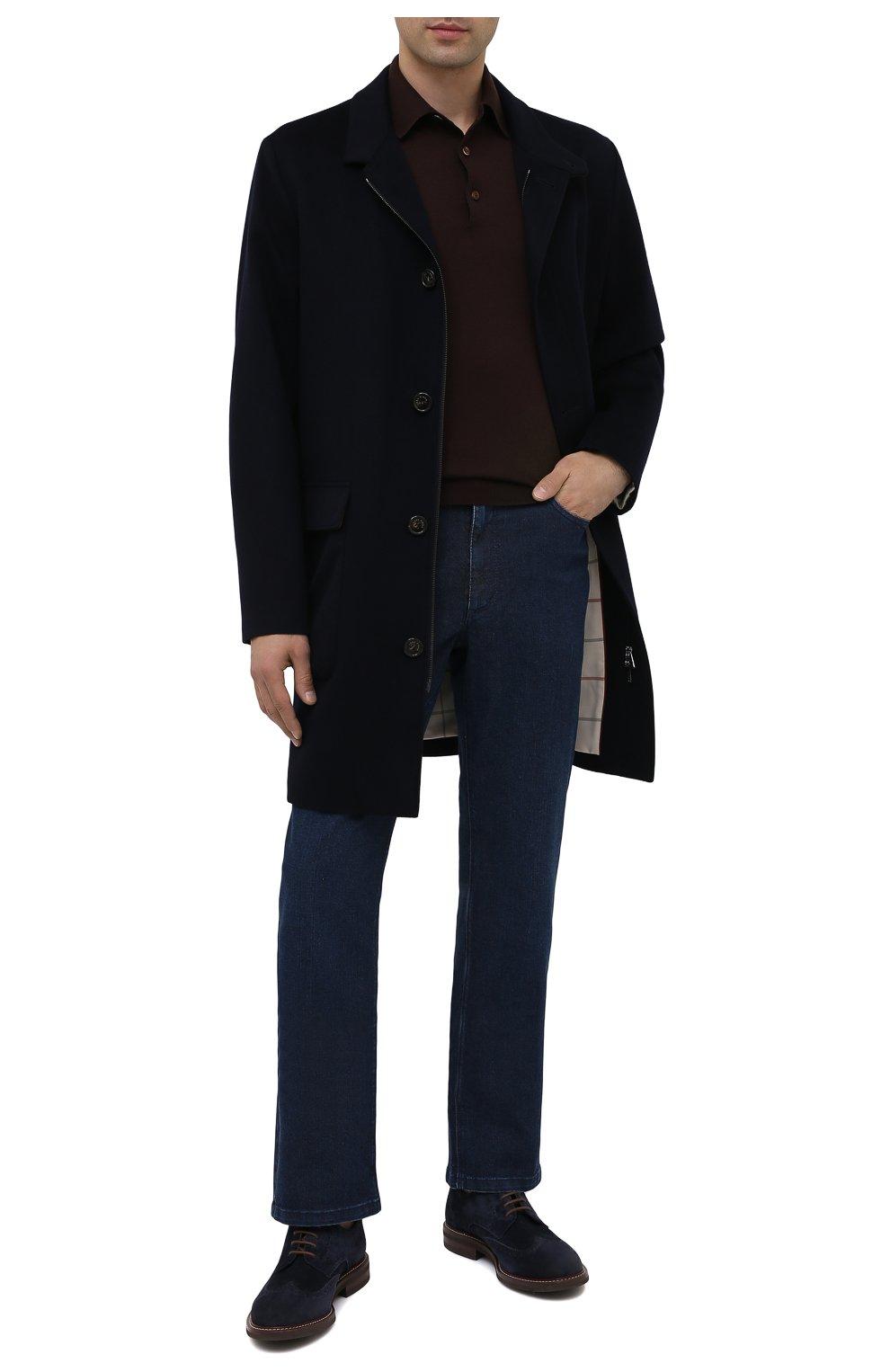 Мужские джинсы ZILLI синего цвета, арт. MCU-00011-LKBL1/R001   Фото 3