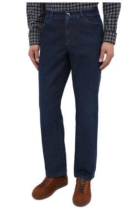 Мужские джинсы ZILLI синего цвета, арт. MCU-00011-LKBL1/R001   Фото 4
