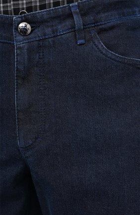 Мужские джинсы ZILLI синего цвета, арт. MCU-00011-LKBL1/R001   Фото 6