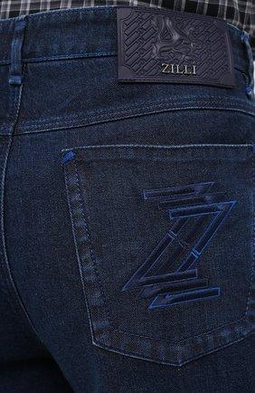 Мужские джинсы ZILLI синего цвета, арт. MCU-00011-LKBL1/R001   Фото 7