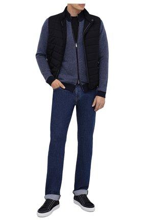 Мужские джинсы LUCIANO BARBERA темно-синего цвета, арт. 114813/46197 | Фото 2