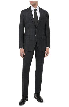 Мужской шерстяной костюм LUCIANO BARBERA темно-серого цвета, арт. 5M2014/21345 | Фото 1