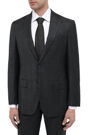 Мужской шерстяной костюм LUCIANO BARBERA темно-серого цвета, арт. 5M2014/21345   Фото 2