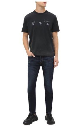 Мужские джинсы DIESEL темно-синего цвета, арт. 00SWJG/009DI | Фото 2