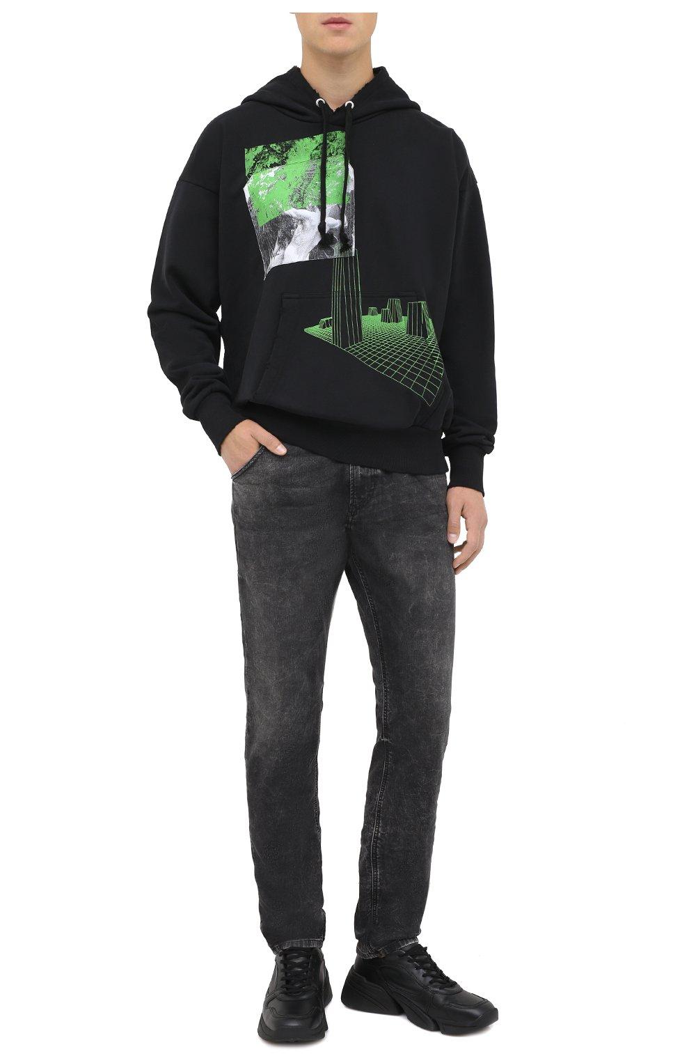 Мужские джинсы DIESEL темно-серого цвета, арт. A00088/009FZ   Фото 2