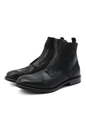 Мужские кожаные ботинки ALEXANDER HOTTO черного цвета, арт. 58023/RIDER | Фото 1