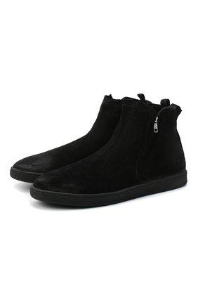 Мужские замшевые сапоги ALEXANDER HOTTO черного цвета, арт. 58057/SENS0RY | Фото 1