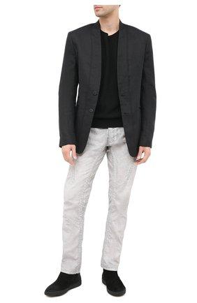 Мужские замшевые сапоги ALEXANDER HOTTO черного цвета, арт. 58057/SENS0RY | Фото 2