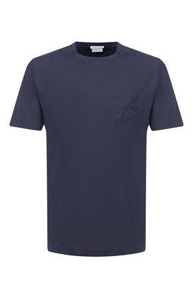 Мужская хлопковая футболка BRIONI синего цвета, арт. UJCH0L/09626 | Фото 1